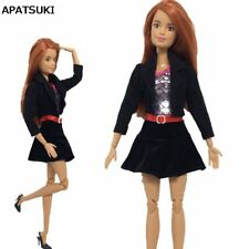 "Black Office Lady Fashion Clothes For 11.5"" Dolls Coat & Shirt & Skirt Outfits"