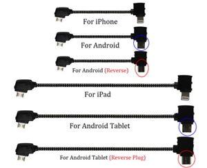 DJI Mavic Mini 2 Zoom Pro Air Spark Remote Cable Micro USB Type-C & iPhone iPad