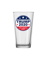 Trump 2020 Pub Pint Glass Beer Tea Soda