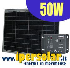 Kit fotovoltaico 50W - Per camper-barca-baite-insegne
