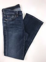 7 for all mankind Straight Leg Dark Wash Low Rise Jeans Size 29x34x8""