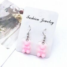 Pink Gummy Bear Earrings (solid colour)