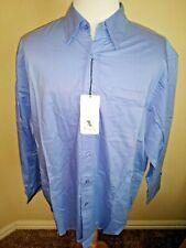 Port Authority Mens Button Down Shirt XL BLue Long Sleeve Pocket Tencel Lyocell