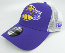 LOS ANGELES LAKERS NBA NEW ERA 39THIRTY 2-TONE TRUCKER FLEX M/L HAT CAP NWT!