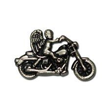 "5410-RC 1 1/2"" Antique Nickel Biker Guardian Angel on Motorcycle Rivet Concho"