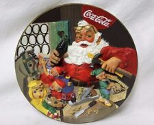 Franklin Mint 1994 Santa's Coca-Cola Workshop Limited Edition Hand-Crafted Plate