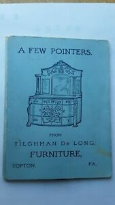 1904 Adv NEEDLE BOOK from TILGHMAN  DeLONG, TOPTON, PA  Furniture, Undertaking