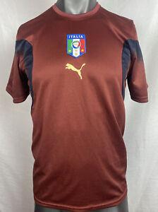 Puma Italia Football Club Short Sleeve Shirt Size M In Good Condition F303