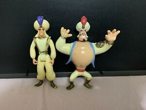 Vintage Aladdin 1993 Mattel Disney Action Figures 2 Set Genie And Aladdin