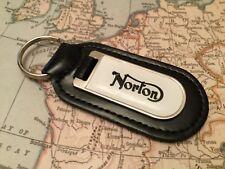 Norton Imprimé Qualité Véritable Cuir Noir Porte-Clés Dominator Commando V4 RR