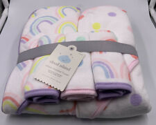 "Cloud Island Hooded Towel Infant 30"" x 30"" 5 pack 2 Towels and 3 Wash Cloths NEW"
