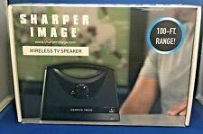 BRAND NEW Sharper Image Wireless TV Speaker 100 ft range 8 Hour Battery SEALED