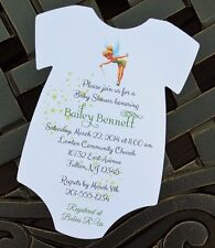 SET OF 10 Tinkerbell Baby Shower Invitation - All Wording Customized For You!