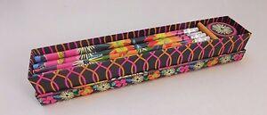 Vera Bradley Jazzy Blooms Pencil Box Set 10 Pencils & Sharpener New