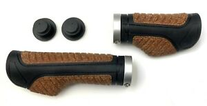 Böttcher Manufaktur Fahrradgriffe Kunststoff Kork, 130/95 mm mit Sicherung