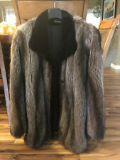 REAL FUR COAT, RACOON, MADE IN CANADA