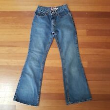 Vintage Old Navy Blue Womens Jeans SZ 1 Denim Flare with Slits