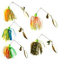 5pcs Lot Buzzbait Fishing Lure Spinner Bait Jigs Leadhead Sharp Hooks 16.3g Tool