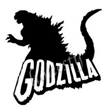 Godzilla Film Window Wall Truck Sticker Laptop Truck Black Vinyl Decal Sticker