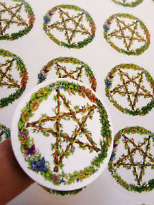 Pentacle stickers A4 ethical scrapbooking cards wicca witch Pagan journal notebo