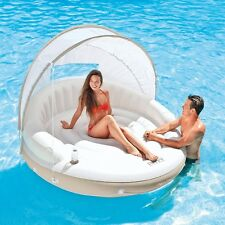 Intex Inflatable Canopy Island Pool Float Lounge For Kids and Adults Summer