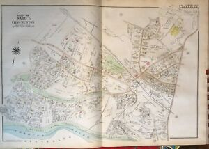 1917 WALBAN & METROPOLITAN PARK BRAE BURN C.C. NEWTON MASSACHUSETTS ATLAS MAP