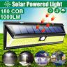 180/118/72/48/20 COB LED Solar Powered Wall Light PIR Motion Sensor Lamp  ER+
