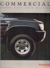 Toyota Commercials 1989-90 UK Market Sales Brochure Liteace HiAce HiLux 2WD 4WD