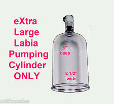 Labia Pumping >>eXtra Large Labia and Clitoris enlargement Cylinder ONLY