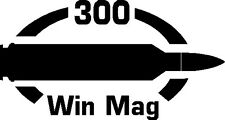 300 Win Mag gun Rifle Ammunition Bullet exterior oval decal sticker car or wall