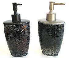 NEW-BROWN,BRONZE+SILVER,GREY,GRAY GLASS MIRROR MOSAIC RESIN SOAP DISPENSER