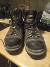 Caterpillar mens steel toe work boots size 9 1/2 wide