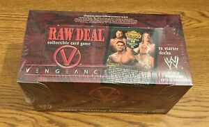 WWE CCG TCG Raw Deal Vengeance Starter Box - 12 Decks - Brand New Factory Sealed
