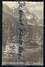 094P  Ansichtskarte  AK  Grainau   Badersee  gegen  Zugspitze