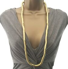 Long snake chain gold colour necklace ethnic tribal look 32 inches *NEW*