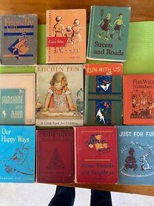 vintage elementary school books