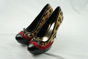 Anne Michelle Dynamite Womens US 7.5 Animal Print Stiletto NWOB ZZ02