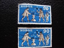 NORVEGE - timbre yvert et tellier n° 519 x2 obl (A30) stamp norway