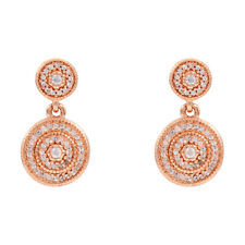 Pandora Radiant Elegance Rose Gold Drop Earrings With Clear CZ 280688CZ