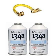 2x DuPont Suva / Chemours R-134a AC Recharge Kit w/ Hose