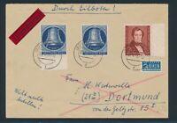BERLIN 1951, Mi. 74 + 78 (2) Brief, portorichtiger R-Brief! Mi. 265,--!