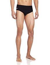Speedo Men's Endurance Solid Brief Swimsuit Black 38