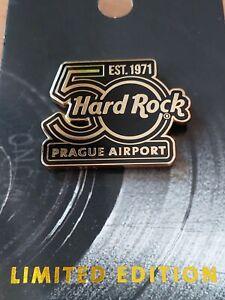 Hard Rock Cafe Prague Airport  50th Anniversary  Pin