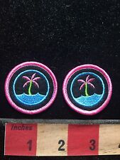 ISLAND / OCEAN / PALM TREE Small Patches (SAVE MONEY - PATCH LOT OF 2) 76X2