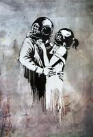 QUALITY BANKSY ART PHOTO PRINT (THINK TANK)