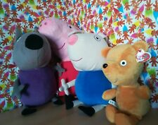 Job Lot Bundle Peppa Pig Soft Toys Large Plush Collectables Ty Beanies