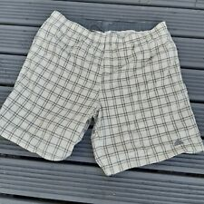 MENS BEIGE CHECKED ADIDAS SHORTS SIZE  2XL