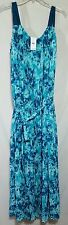 Lane Bryant Dress Plus Size 14/16 Pleated Lined NWT $90 Retail Blue Floral