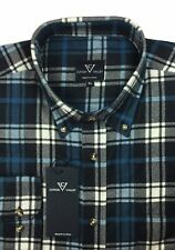 Mens Cotton Valley L/S Flannel Check Work Shirt with Normal Collar Size 4XL