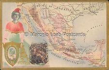MEXICO MAPA Y ESCUDO EN RELIEVE